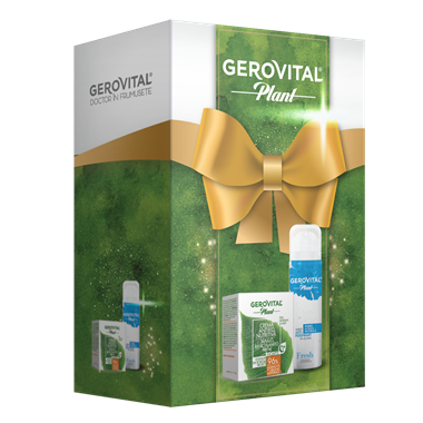 Gift Pack Gerovital Plant: Anti-Wrinkle Nourishing Cream and Antiperspirant Deodorant Fresh