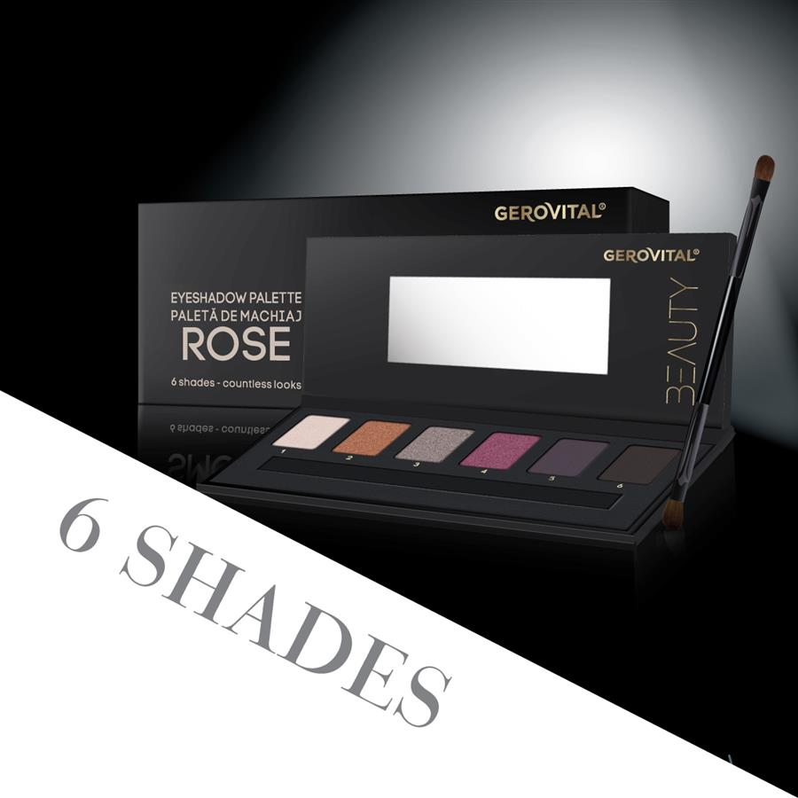 eyeshadow palette rose gerovital beauty