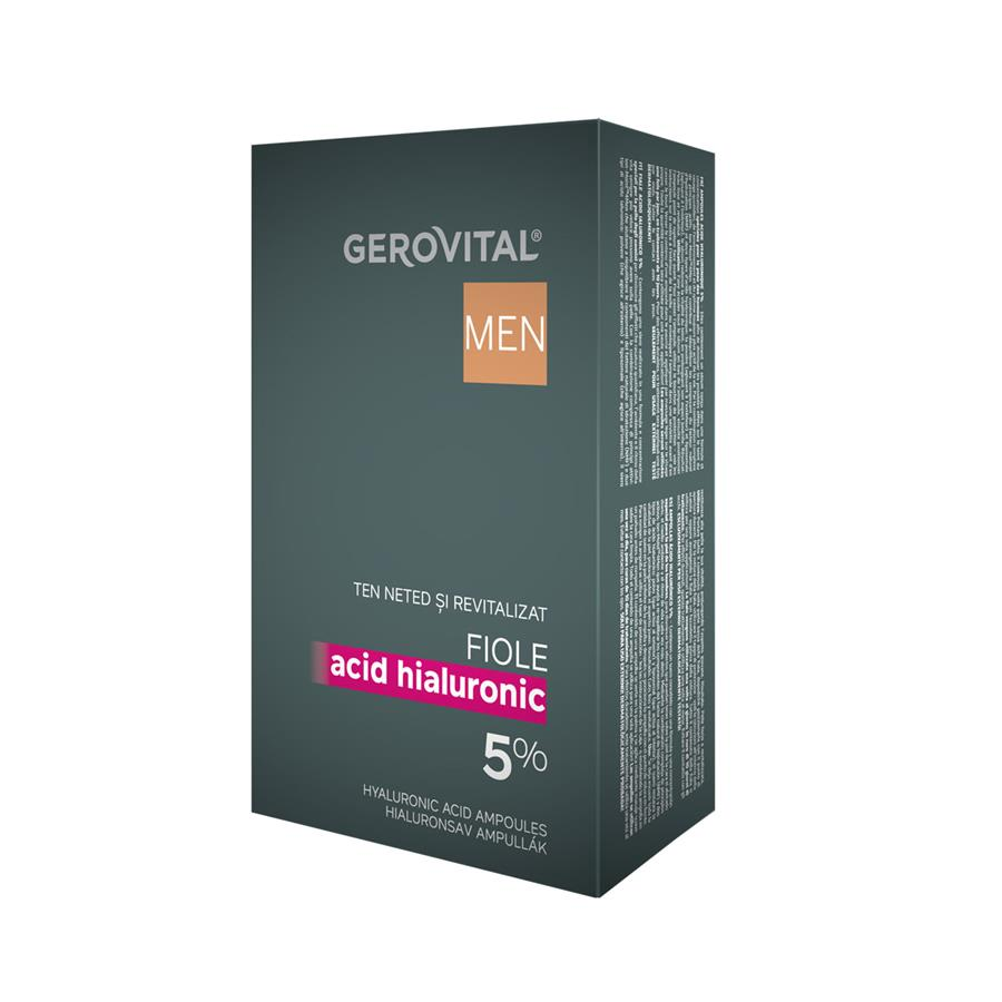 Hyaluronic Acid Ampoules 5% Gerovital Men