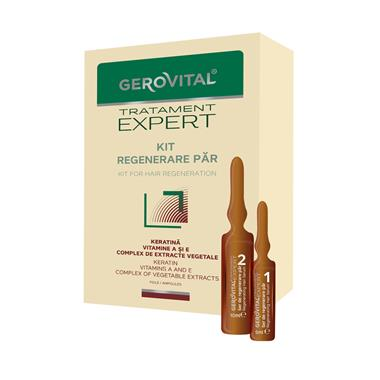Hair Regeneration Kit Vials Gerovital Tratament Expert