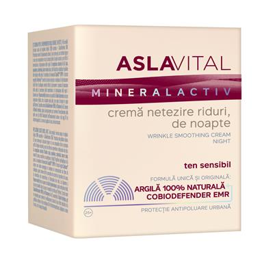 Wrinkle smoothing cream, night Aslavital Mineralactiv