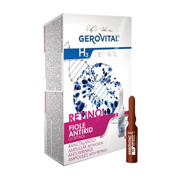 Anti-wrinkle ampoules with retinol Gerovital H3