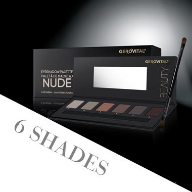 nude eyeshadow palette gerovital beauty