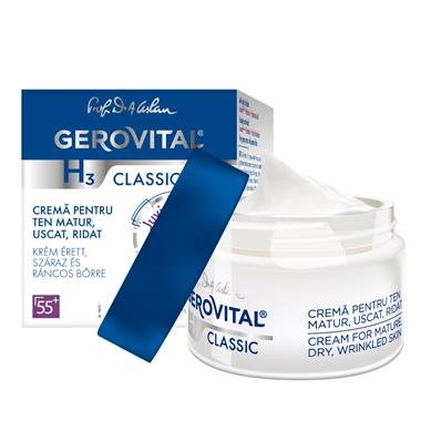 Gerovital H3 Classic Cream for mature, dry, wrinkled skin