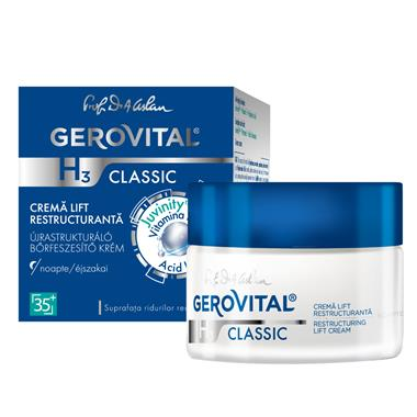Moisturizing lift cream night care - Gerovital H3 Classic