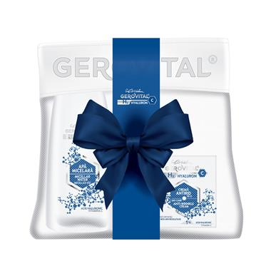 Gift Pack Gerovital H3 Hyaluron C: Anti-wrinkle cream day care + Micellar Water